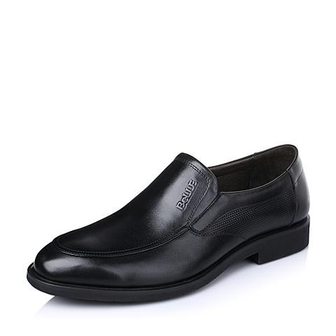 Belle/百丽2016春季黑色牛皮男鞋F5679AM6