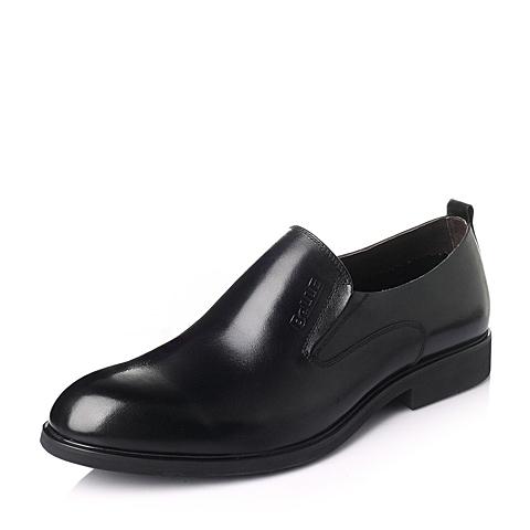Belle/百丽2016春季黑色牛皮革男鞋F1036AM6