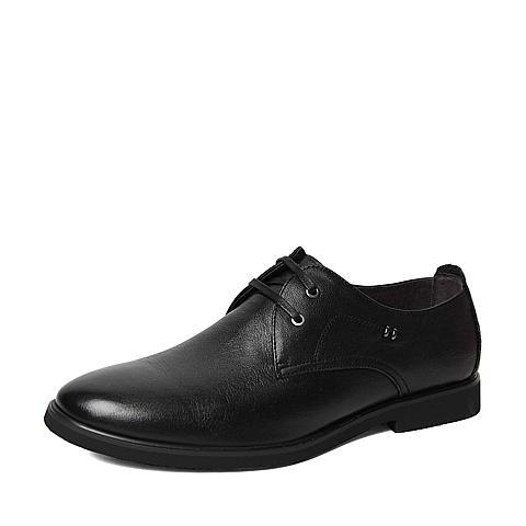Belle/百丽春季专柜同款黑色牛皮男单鞋4JF01AM6