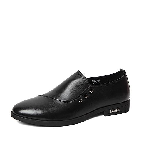 Belle/百丽春季专柜同款黑色牛皮男皮鞋3ZQ12AM6