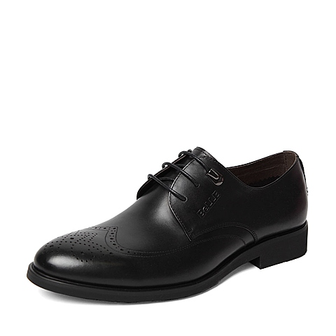 Belle/百丽2016春季专柜同款黑色牛皮男单鞋4JS01AM6 专柜1