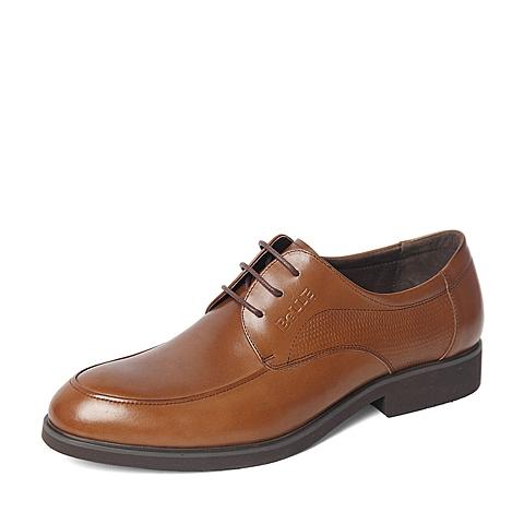 Belle/百丽春季专柜同款棕色商务休闲牛皮革男皮鞋4JT11AM6