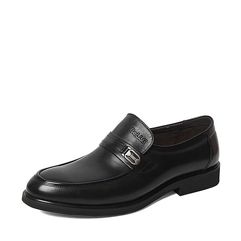 Belle/百丽2016春季专柜同款黑色牛皮经典儒雅男皮鞋4JQ01AM6 专柜1