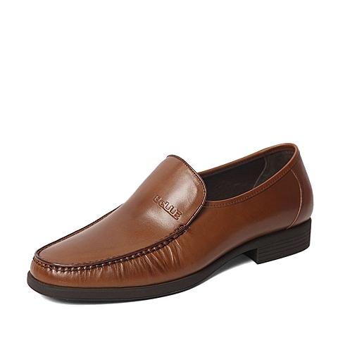 Belle/百丽2016春专柜同款棕色牛皮时尚商务儒雅男皮鞋4JR01AM6 专柜1