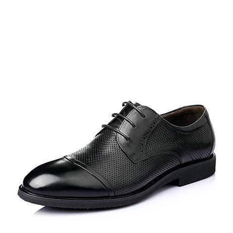 Belle/百丽夏季黑色牛皮商务正装男单鞋Y2065BM6