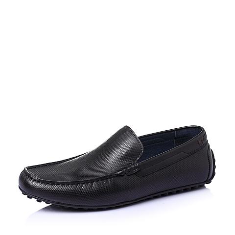 Belle/百丽夏季黑色牛皮男单鞋C8901BM6