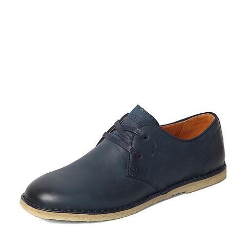 Belle/百丽春专柜同款蓝色磨砂牛皮时尚活力男休闲鞋4JU01AM6