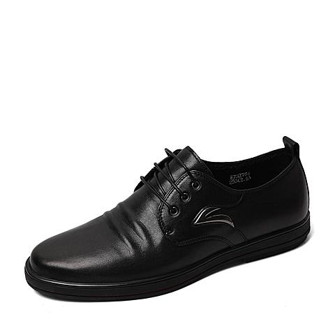 Belle/百丽2016春季专柜同款黑色牛皮男单鞋3ZT01AM6  专柜1