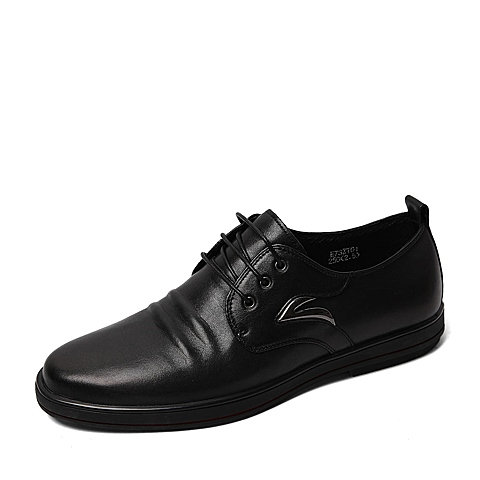 Belle/百丽春季专柜同款黑色牛皮男单鞋3ZT01AM6  专柜1