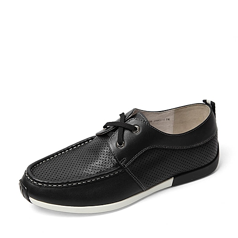 Belle/百丽2016夏季专柜同款黑色牛皮革男皮鞋B3M04BM6 专柜1