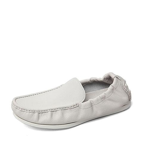 Belle/百丽2016春季专柜同款白色牛皮男单鞋B2S01AM6 专柜1