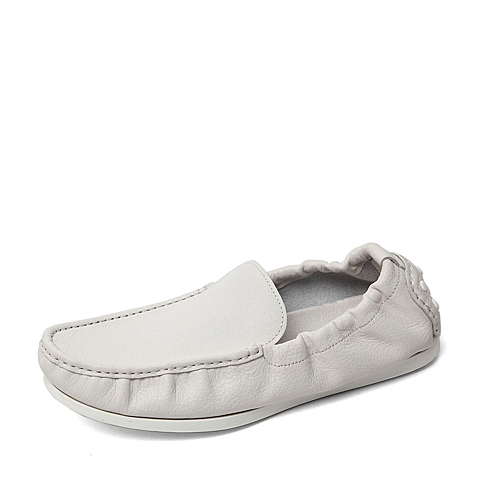 Belle/百丽春季专柜同款白色牛皮男单鞋B2S01AM6