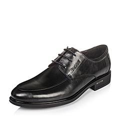 Belle/百丽秋季黑色牛皮男单鞋8667BCM6