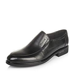 Belle/百丽秋季黑色牛皮男单鞋86608CM6