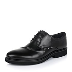 Belle/百丽专柜同款秋季牛皮男商务休闲鞋4NF31CM6