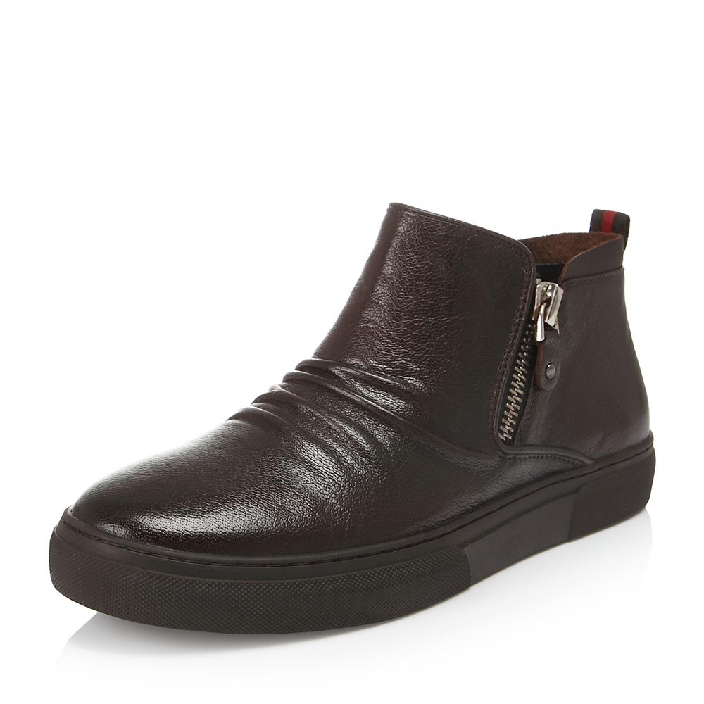 Belle/百丽冬专柜同款棕色牛皮男休闲靴4NR01DD6