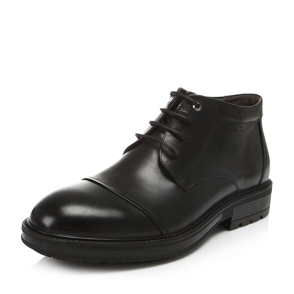 Belle/百丽冬专柜同款黑色牛皮男皮靴4PV01DD6