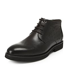 Belle/百丽专柜同款冬季牛皮男皮靴4PW01DD6