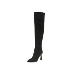 Belle/百丽冬季专柜同款黑羊绒皮女皮靴BLI80DC6