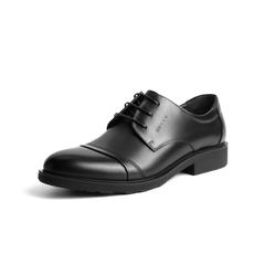 Belle/百麗秋季專柜同款黑色牛皮商務正裝男單鞋3UX01CM5