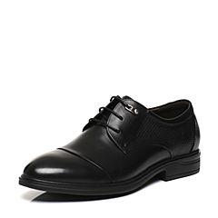 Belle/百丽春专柜同款黑色牛皮时尚商务正装男皮鞋4TT01AM7
