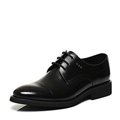 Belle/百丽2017春黑色商务正装牛皮男皮鞋21301AM7