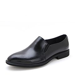 Belle/百丽2017夏季黑色商务正装牛皮男皮鞋21802BM7