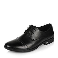 Belle/百丽2017春季黑色商务正装牛皮男皮鞋26301AM7