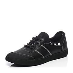 Belle/百丽春季专柜同款牛皮平底舒适圆头男休闲鞋4WD01AM7