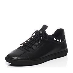 Belle/百丽春季专柜同款牛皮平底舒适男休闲鞋4WA01AM7