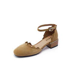 Belle/百丽春季专柜同款棕色羊皮中空凉鞋R2B1DAK7
