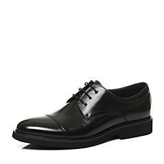 Belle/百丽2017冬季黑色牛皮革男皮鞋54107CM7