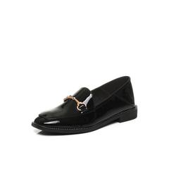 Belle/百丽2017秋季新品专柜同款黑色漆皮牛皮女单鞋BLND2CM7