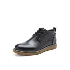 Belle/百丽冬季专柜同款黑色胎牛牛皮男皮靴B3H45DD7