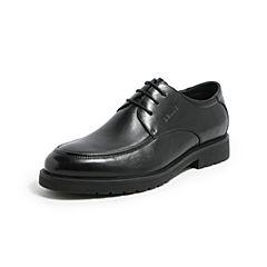 Belle/百丽春季黑色商务正?#33453;?#30382;革男皮鞋53102AM7