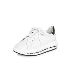 Belle/百丽2018春季新品专柜同款白色运动风牛皮革女鞋BVC22AM8