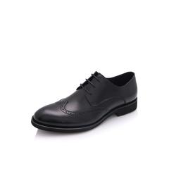 Belle/百丽2018春季新品黑色牛皮商务正装男皮鞋婚鞋09835AM8