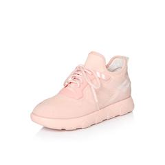 Belle/百丽2018春季新品专柜同款粉色运动风弹力布/滴胶女休闲鞋S2D1DAM8