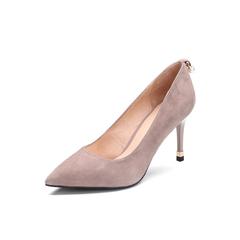 Belle/百丽2018年春季新品专柜同款浅粉色羊绒皮革女皮鞋S2B1DAQ8