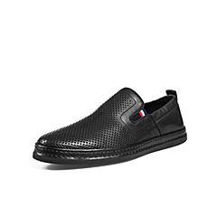 Belle/百麗商場同款黑色牛皮革男皮鞋5RL02BM8