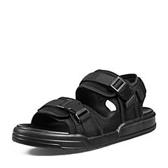 Belle/百丽2018夏新品纺织品厚底休闲男凉鞋87302BL8(领红包更优惠)