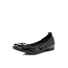 Belle/百丽专柜同款黑色牛皮革女休闲鞋S4W1DAQ8