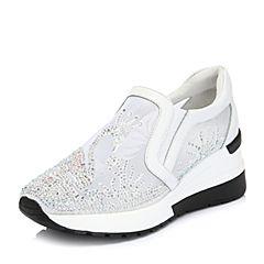 Belle/百丽2018春新专柜同款网布/牛皮革运动风女休闲鞋S6M1DAM8(领红包更优惠)