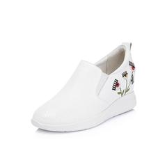 Belle/百丽2018秋专柜新款白色牛皮革女休闲鞋S6Y1DCM8