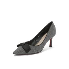 Belle/百丽专柜同款亮线布OL通勤尖头细高跟女单鞋BRX19CQ8