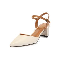 Belle/百丽专柜同款羊皮革/超纤女皮凉鞋S7X1DBH8