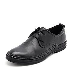 Belle/百丽2018秋季新款牛皮革商务休闲男皮鞋19211CM8