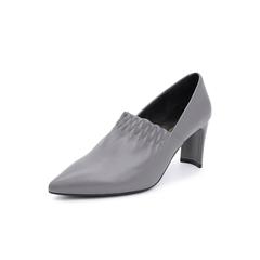 Belle/百丽2018秋专柜新款灰色羊皮革高跟女单鞋S8R1DCM8