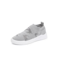 Belle/百丽2018秋专柜新款烫灰钻飞织帮面袜套休闲女鞋BE420CM8