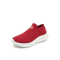 Belle/百丽2018秋专柜新款红色飞织帮面袜套运动风女休闲鞋S9N1DCM8